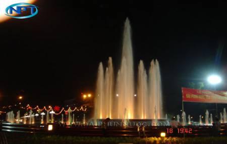 Đài phun nước lập trình tại trung tâm TP Thái Nguyên