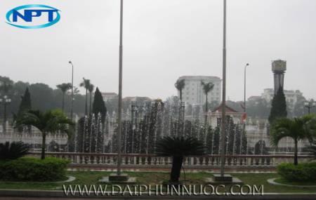 Đài phun nước lập trình UBND TP Hà Tĩnh