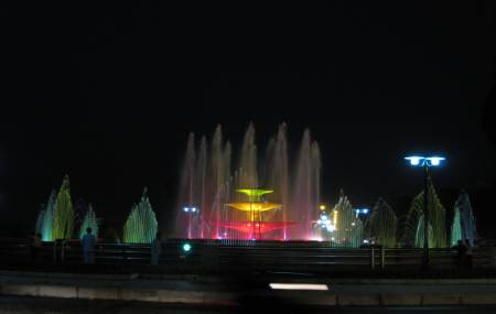 Đài phun nước tại trung tâm TP Vĩnh Yên