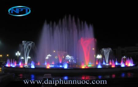 Đài phun nước tại trung tâm TP Yên Bái