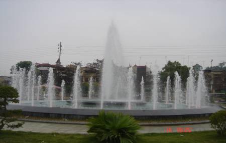 Đài phun nước tại sân vận động TP Việt Trì