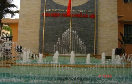 Đài phun nước tại Bưu Điện TP Hà Nội