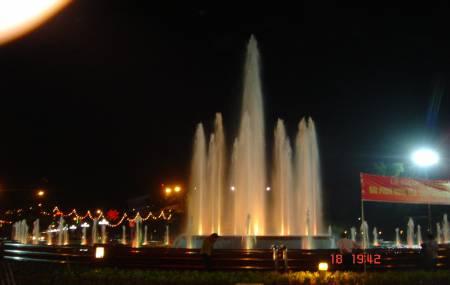 Đài phun nước tại trung tâm TP Thái Nguyên