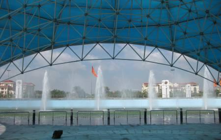 Đài phun nước tại trung tâm hội nghi Kinh Bắc