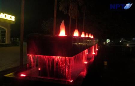 Đài phun nước tại vườn sinh thái Thanh Bình - Hải Dương