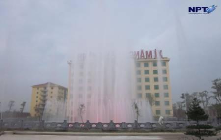 Đài phun nưóc tại Nhà máy xi măng Xuân Thành - Hà Nam