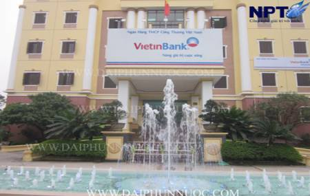Đài phun nước tại ngân hàng VietinBank - TP.Vĩnh Yên - Vĩnh Phúc