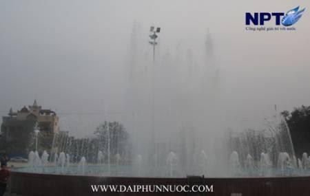 Đài phun nước  tại thị xã Sông Công - Thái Nguyên