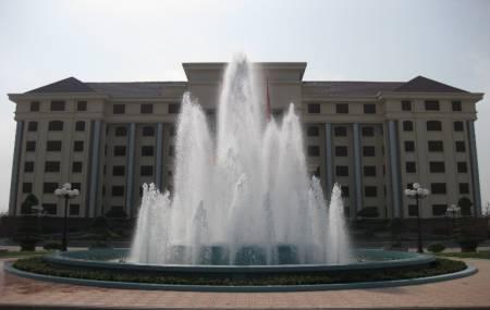 Đài phun nước tại Tỉnh Ủy Ninh Bình