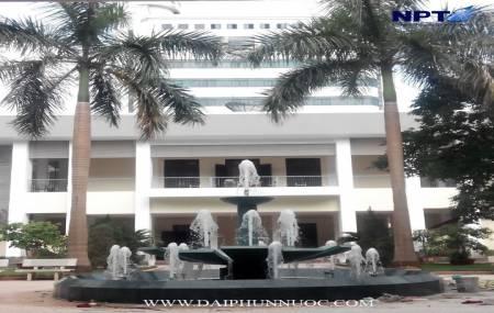 Đài phun nước  tại Học Viện Hành Chính Quốc Gia