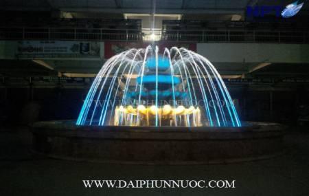 Công trinh đài phun nước  tại trung tâm Chợ Đồng Xuân