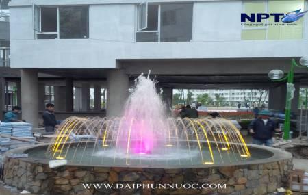 Công trinh đài phun nước  tại khu đô thị Đặng Xá - Giai đoạn 4 -2014