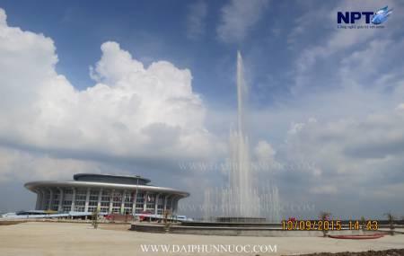 Công trinh đài phun nước tại nhà thi đấu Hà Nam