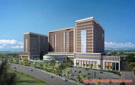 Công trình đài phun nuớc tại trụ sở mới Bộ Ngoại Giao - Hà Nội