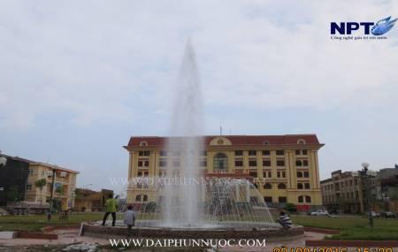 Đài phun nước tại Bộ Chỉ Huy Quân Sự tỉnh Hưng Yên
