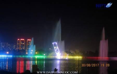 Đài phun nước trên phao nổi tại khu đô thị Tây Hồ Tây -  Starlake Hà Nội