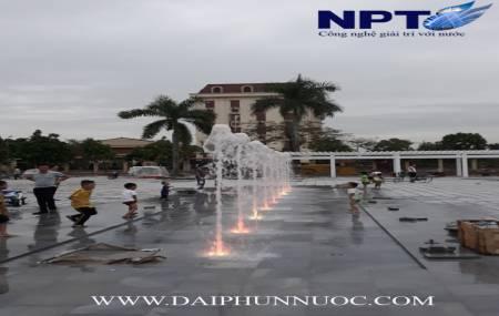 Đài phun nước cạn tại Quảng Trường Kinh Môn - Hải Dương