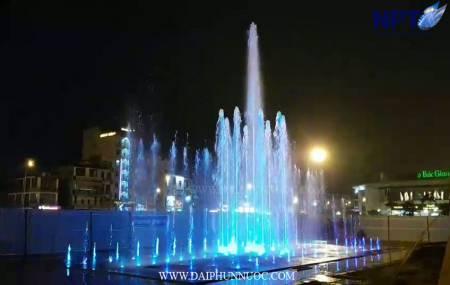 Đài phun nước cạn tại Quảng trường 3-2 trung tâm thành phố Bắc Giang