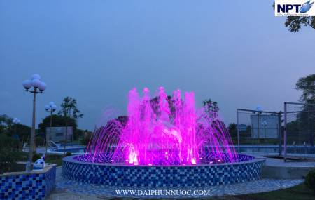 Đài phun nước gần Đền Trần - Thái Bình
