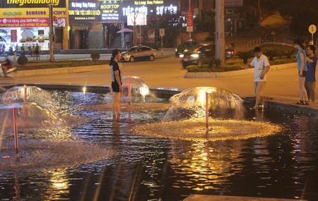 Đài phun nước Cột Đồng Hồ - Hạ Long - Quảng Ninh biến thành công viên nước