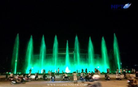 Đài phun nước Uông Bí chính thức đi vào hoạt động 1-9-2016