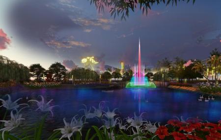 Công trình đài phun nước tai khu đô thị mới Phố Thắng - Hiệp Hòa - Bắc Giang