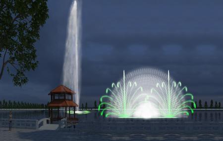 Đài phun nước tại hồ Thị Cầu - TP Bắc Ninh